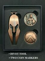 Spartan Golf Tools Combo, Divot Tool - 2 ball markers - Spartan and Shield