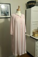 Vintage Shadowline Pink Nylon Nightgown, Vintage Medium Lingerie