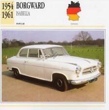 1954-1961 BORGWARD ISABELLA Classic Car Photograph / Information Maxi Card