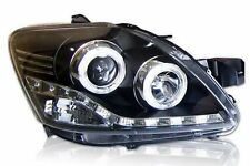 Front Smoke Black Projector Headlight with Led Toyota Vios Yaris Belta 07-12