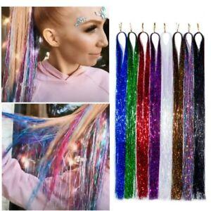 Shiny Hair Tinsel Rainbow Women Hair Extensions Braiding Headdress Hair Styling