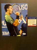 Novak Djokovic Rare! signed autographed tennis 8x10 photo PSA/DNA coa