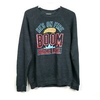 Homage Boom Shaka Laka He's On Fire NBA Jam Crewneck Sweatshirt Mens Size Medium