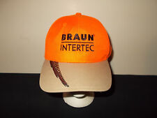 Braun Intertec Pheasant Blaze Orange hunting strapback hat sku5