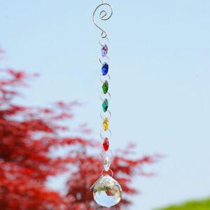 Glass Crystal Ball Prism Rainbow Maker Chakra Hanging Suncatcher Window Decor