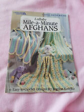 New listing New Leisure Arts Leaflet*Lullaby Mile-a-Minute Afghans*6 easy to crochet designs