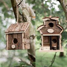 Novelty Wooden Hanging Garden Bird House Box Nesting Boxes Feeder Hut