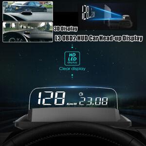 5 INCH L3 OBD2 Heads Up Display Car HUD Overspeed/Temperature/Low pressure Alarm
