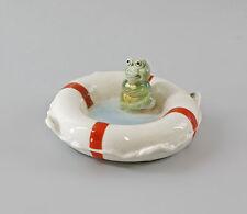 Porzellan Schale Rettungsring mit Frosch Ens 13x6cm 9997317