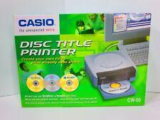 NEW Casio CW-50 CD/DVD Disc Title Printer