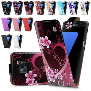 Leather Flip Case Cover for Samsung Galaxy S7 with Free Screen Protector