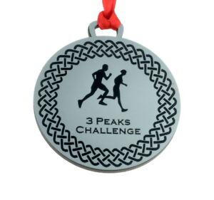 Personalised Running Medal 7cm Diameter Metallic Finish ODMED003