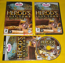 NATIONAL GEOGRAPHIC HEROD'S LOST TOMB Pc Versione Ufficiale Italiana »» COMPLETO