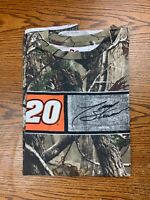 NASCAR Jimmy Stewart #20 Realtree Camo Shirt Sz M/L All Over Print Camouflage