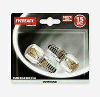 2 X Eveready 220-240V 15w 300°C Oven Kitchen Appliance Lamp SES E14 Bulb Pygmy