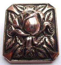serre passe attache foulard bijou vintage rose en relief couleur argent 1858
