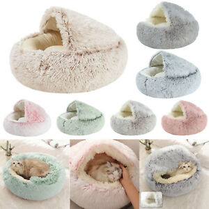 Soft Plush Pet Bed Kennel Winter Warm Nest Cat Dog Puppy Sleeping Cushion House