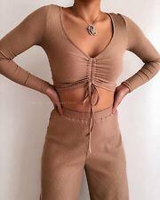 Autumn Knit Pants - Tan