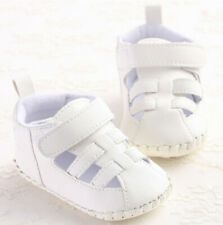 Baby Boys Sandals Toddler Soft Sole Prewalker Crib Shoes Moccasins White SH185