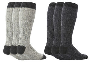 Workforce - Mens Long Knee High Thick Warm Wool Rich Work Boot Socks 1 Pair