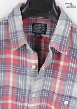 J Crew Sporting Goods Plaid Flannel Button Front Shirt Sz. M