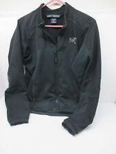Men's ARCTERYX Softshell FULL ZIP Polartec Fleece Lined BLACK JACKET Size Small