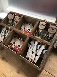 14 New Heaven Sends Rustic Wooden Chic Christmas Decorations Cats Angels Foxes