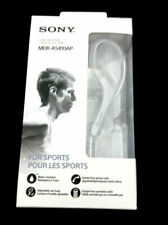 Sony MDR-AS410AP Wired Sport Earphone Earbuds Water Resistant MDRAS410AP WHITE