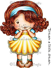 SHY MARCI-La-La Land Crafts Cling Mount Rubber Stamp-Stamping Craft--RETIRED