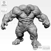 55mm Resin Incredible Hulk Action Figure Unpainted Unassembled Statue Avengers