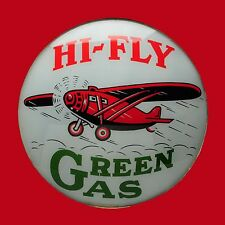 Hi Fly Airplane Green Gas High Quality Square Metal Magnet 4 x 4 inches 9412