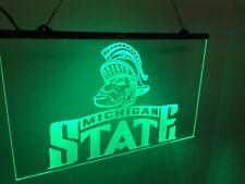 Michigan State Spartans Led Light Sign Game Room , Bar , garage Sign