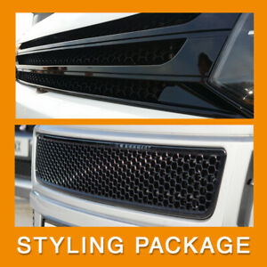 for VW T5.1 Transporter Van Front Styling Gloss-Black Package (2pcs) Painted and