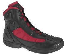 $195.00 Bates Beltline Performance Men's Motorcycle Boots Black/Red, Size 7.5