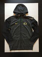 Nike Oregon Ducks Heather Black Full Zip Travel Hoodie Mens Size M