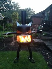 Fire Garden Goblin Gas Bottle Log Wood Burner Chimenea Outdoor Heater
