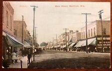Main Street Hartford Wisconsin litho 1908