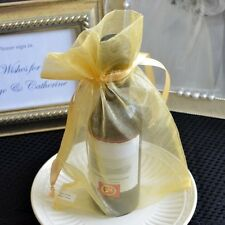10x Large Gold Copper Organza Favor Pouches Wedding Gift Bags, Potpourri Bags