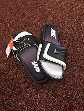 New Nike Comfort Slide 2 Men's Slide Sandals BLACK WHITE Solid 415205 010 SIZE 9