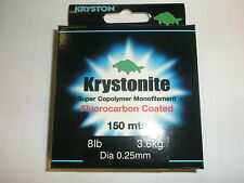 Kryston Krystonite Flourocarbon Coated Monofilament 6lb 0.23mm 150m Fishing
