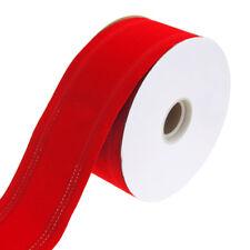 Homeford 5252 Waterproof Velvet Dual Christmas Ribbon Wired Edge 25 Yd 2-1/2-i