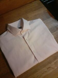 Jaeger Shirt Size L 16.5 Collar White Long Sleeve