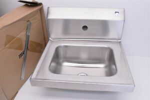 Elkay 55001104 commercial Stainless Steel wall hung Hand wash Sink 16x15x13