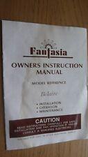 "Fantasia ""Belaire"" Ceiling Fan Brass Light.Owners Instruction Manuel."