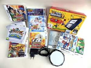 Lot Console 2DS Collector New Super Mario 2 +12 Games 3DS DS Pokemon Mario Kart
