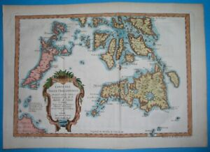 1752 ORIGINAL MARINE MAP PHILIPPINES SOUTHERN ISLANDS MINDANAO PALAWAN PANAY