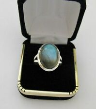 Labradorite Natural Sterling Silver Fine Rings