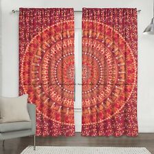 Indian Drapes Cotton Window Balcony Treatments Tapestry Hanging Mandala Curtains