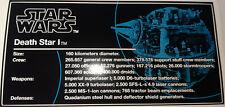 Star Wars Sticker for Lego® 10188/75159 Death Star Infoplate cmyk vinyl HQ