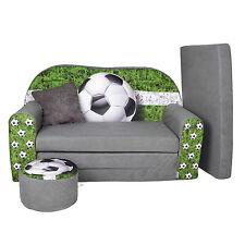 Kindersofa Football Sofa Kinderzimmersofa zum Aufklappen FORTISLINE